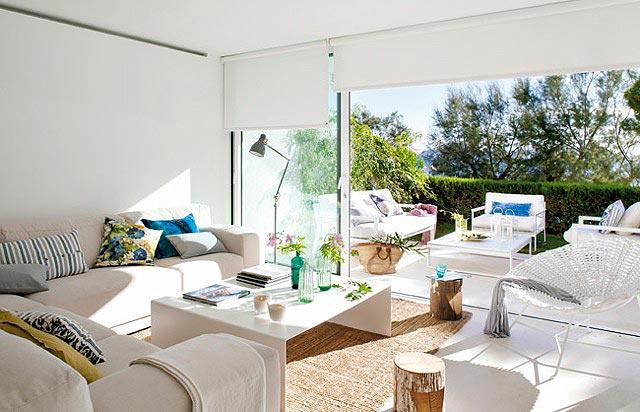 Salon blanco28 - Salones decorados en blanco ...