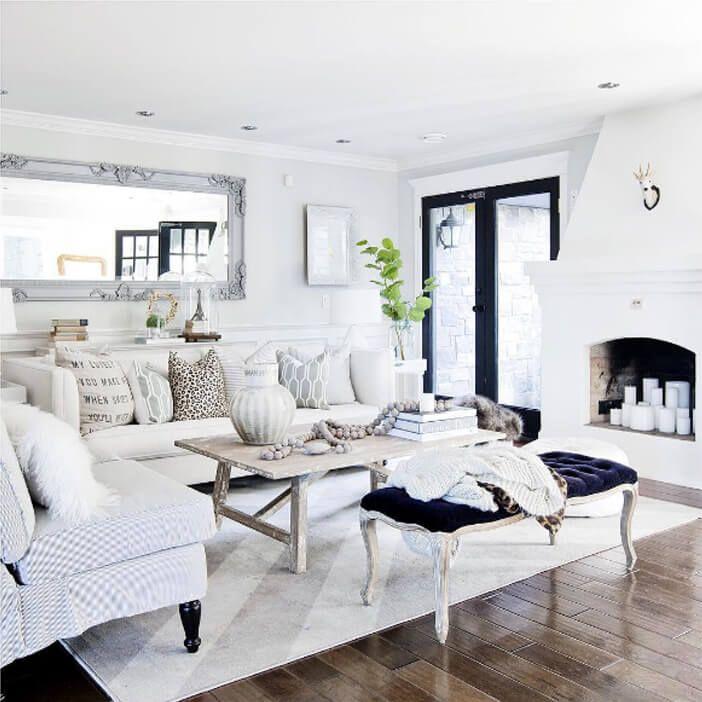 Salon blanco36 - Salones decorados en blanco ...