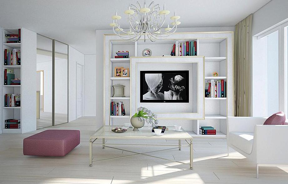 Salon blanco38 - Salones decorados en blanco ...