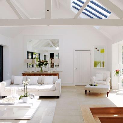 Salon blanco39 - Salones decorados en blanco ...