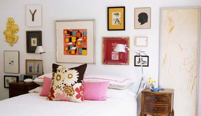grandes ideas para decorar las paredes del dormitorio