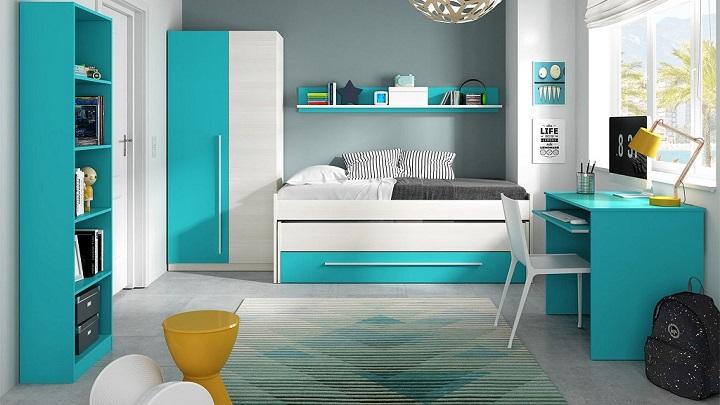 Fotos de habitaciones infantiles y juveniles de color azul for Habitacion infantil juvenil