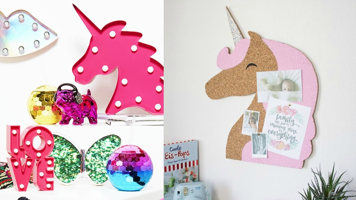 Ideas para decorar con unicornios for Decoracion para pared unicornio