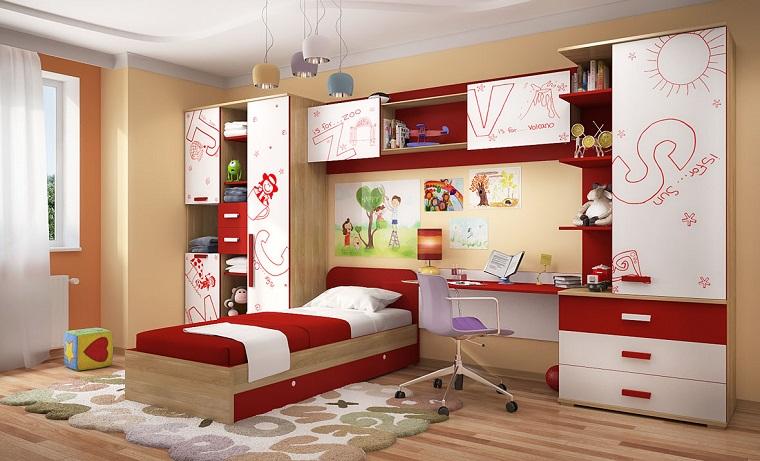 Habitacion rojo14 for Imagenes de habitaciones decoradas