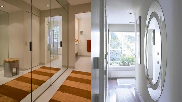 Consejos e ideas para que el pasillo parezca m s ancho for Espejos para pasillos
