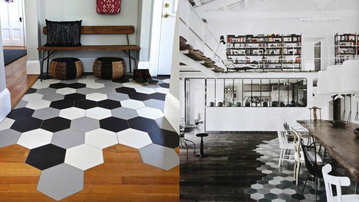 baldosa-hexagonal-con-madera