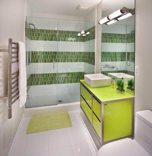 Bano blanco y verde15 for Banos blancos y verdes