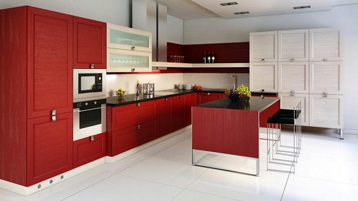 Fotos de cocinas decoradas en blanco y rojo - Cocinas decoradas en blanco ...