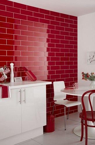 Cocina blanco y rojo32 for Cocinas en rojo y blanco