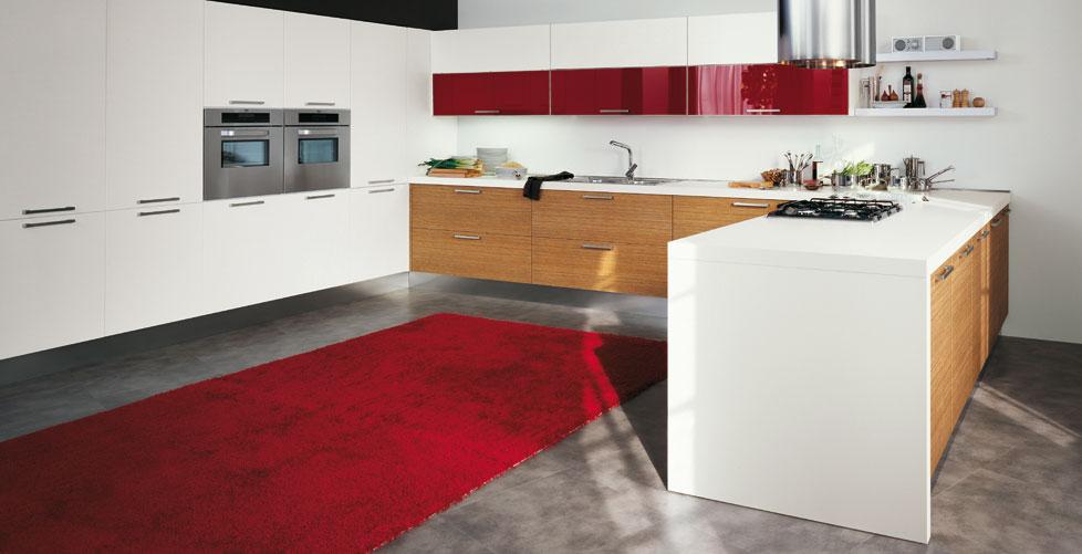 Cocina blanco y rojo39 - Cocinas decoradas en blanco ...