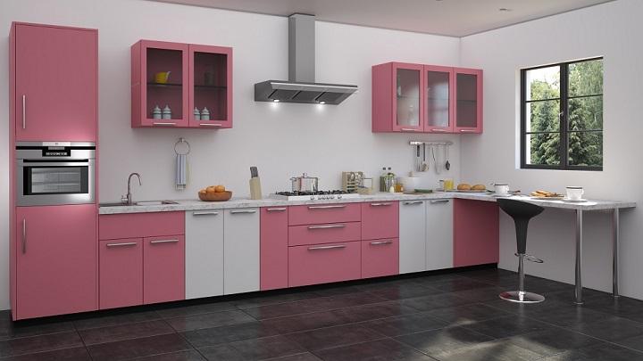 Fotos de cocinas decoradas en blanco y rosa - Cocinas decoradas en blanco ...