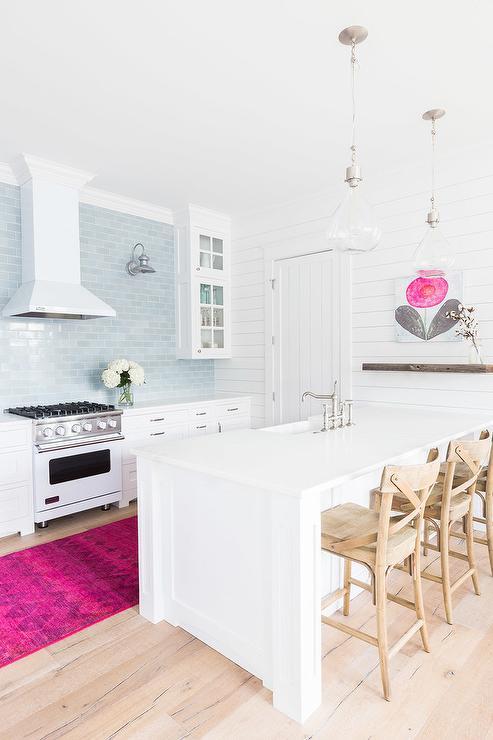 Coina blanco y rosa13 - Cocinas decoradas en blanco ...
