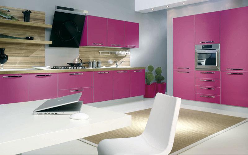 Coina blanco y rosa15 - Cocinas decoradas en blanco ...