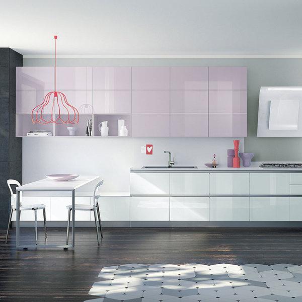 Coina blanco y rosa19 - Cocinas decoradas en blanco ...