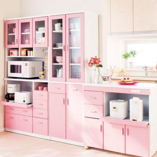 Coina blanco y rosa27 - Cocinas decoradas en blanco ...