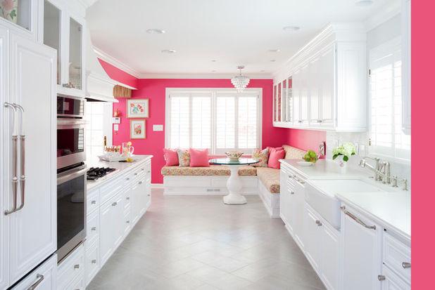 Coina blanco y rosa35 - Cocinas decoradas en blanco ...