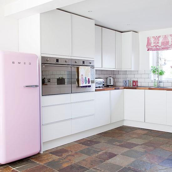 Coina blanco y rosa5 - Cocinas decoradas en blanco ...