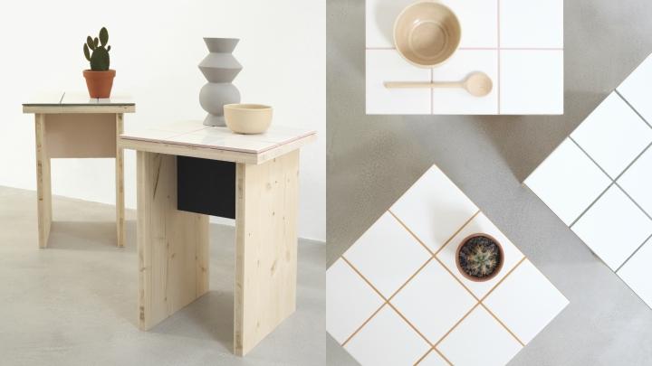mesita-madera-azulejos