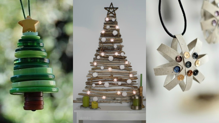 Ideas para una decoraci n navide a con materiales reciclados - Decoracion de navidad con material reciclado ...