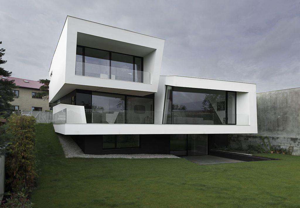 Casa futurista praga 1 for Casas futuristas
