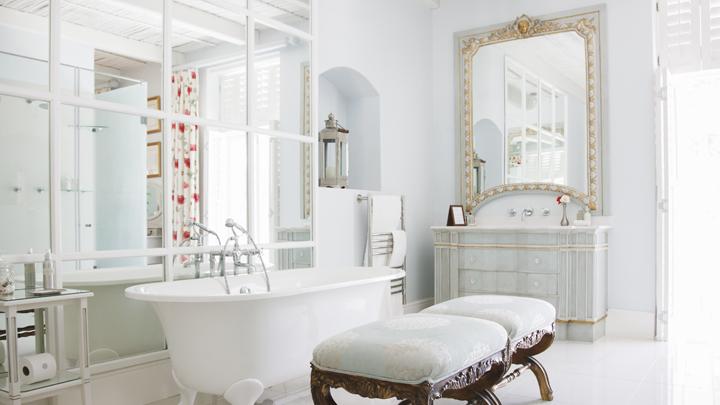 decoracion-bano-banera-vintage-chic