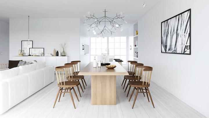 comedor-decoracion-nordica-madera