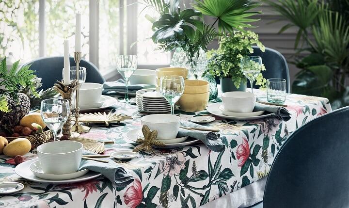 mesa-decorada-en-verde-y-azul