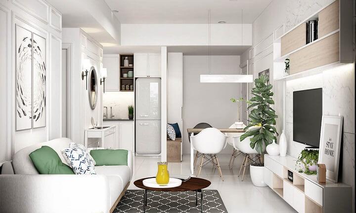 casa-mini-alfombra-delimitando-salon-y-comedor