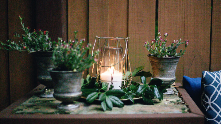 decoracion-plantas-con-vela