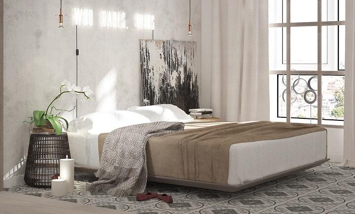 dormitorio-gris-madera-blanco