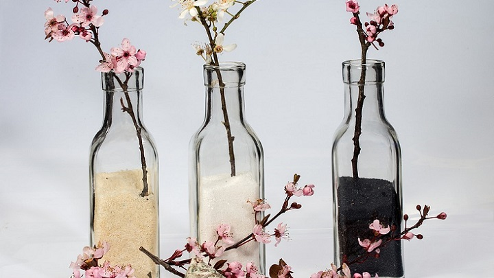 botellas-con-flores