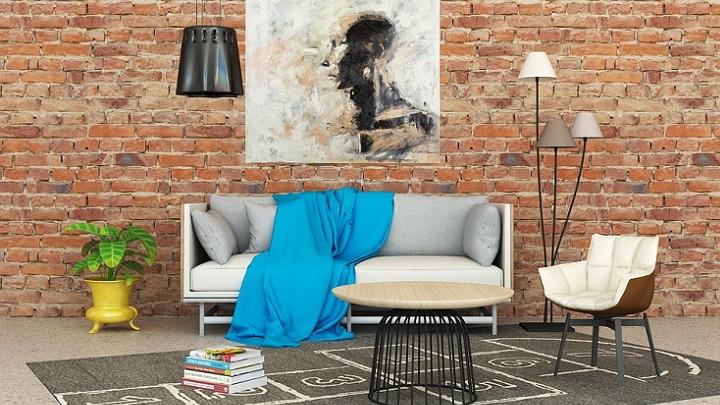 sofa-y-manta-azul
