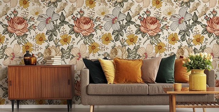 fotomural-flores-estilo-retro
