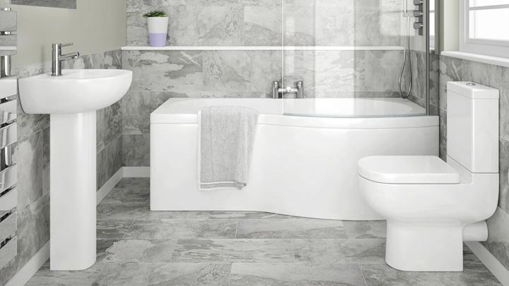 baño blanco elegante