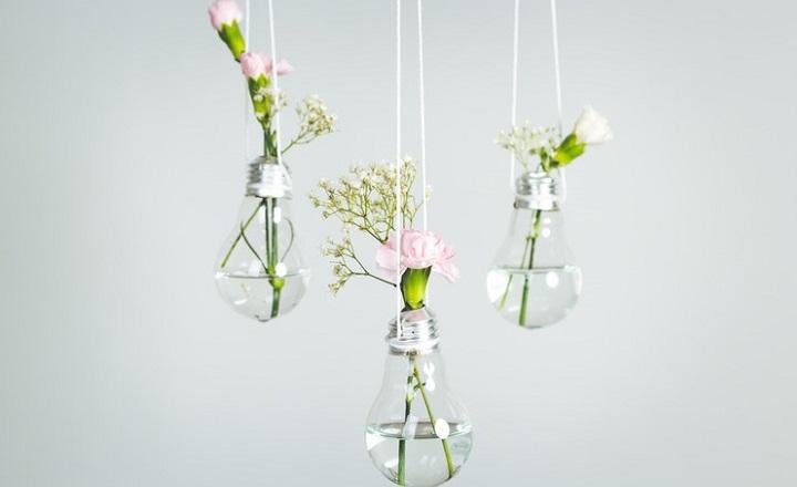 bombillas-con-flores