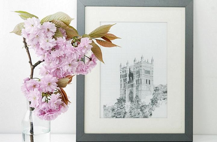 decoracion-con-cuadros-y-flores