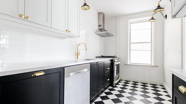 cocina-decorada-en-blanco-y-negro
