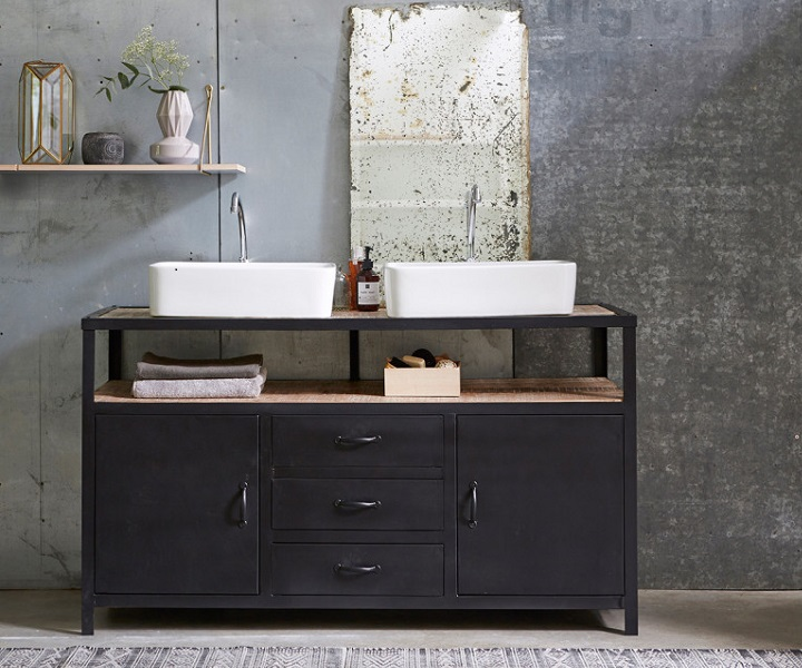 mueble-de-lavabo-en-metal-y-madera-oscura