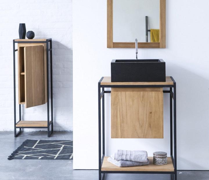 mueble-de-lavabo-en-metal-y-teca