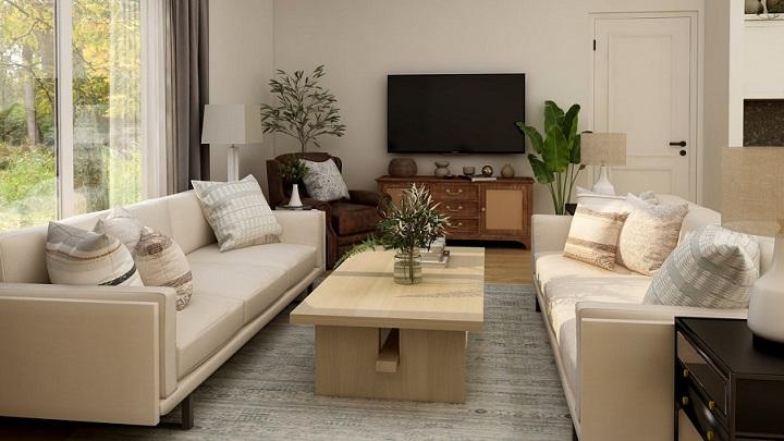 decoracion-del-salon-con-sofas-enfrentados