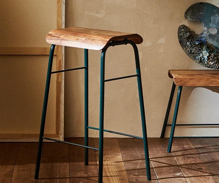 taburete-de-hierro-y-madera