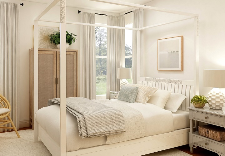 dormitorio-con-cama-con-dosel-de-madera
