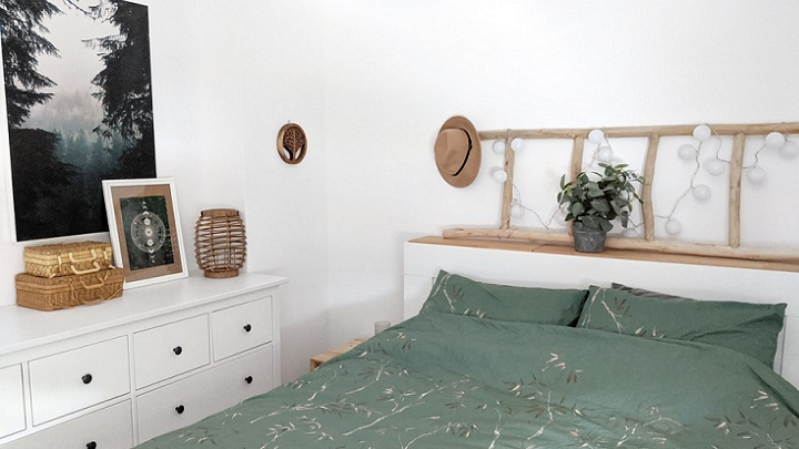 dormitorio-decorado-en-blanco-y-verde