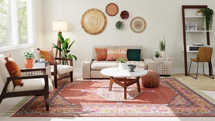 salon-con-alfombra-con-detalles-en-rojo